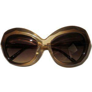 Linda Farrow Luxe Oversized Beveled Sunglasses